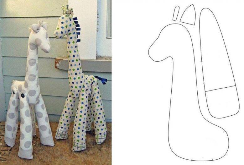 Выкройка жирафа. Как сшить жирафа из ткани своими руками