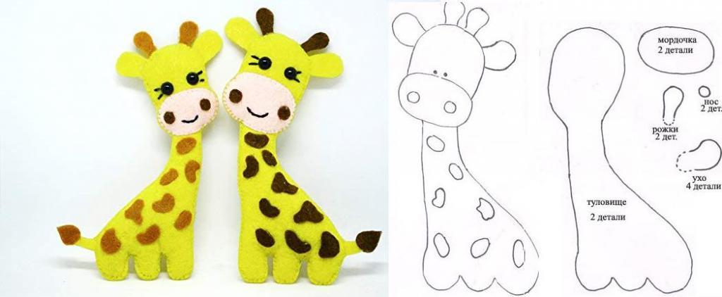 как сшить жирафа