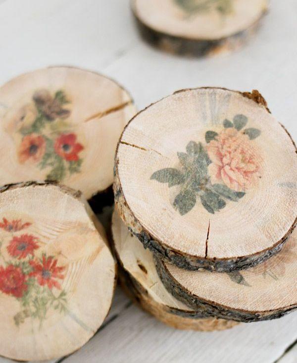 Спилы дерева в интерьере: декор для стен и пола