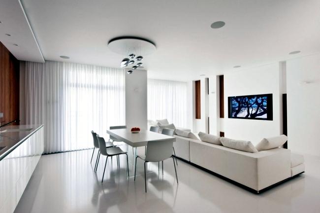 Интерьеры гостиных в белых цветах: фото, идеи для дизайна