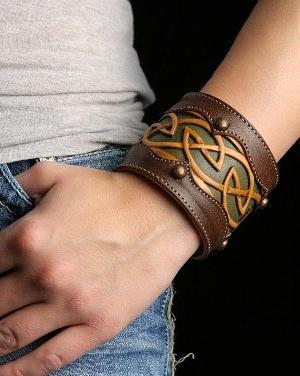 Мужские браслеты из кожи своими руками