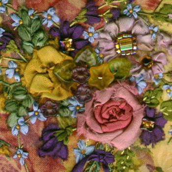 картины из цветов из лент