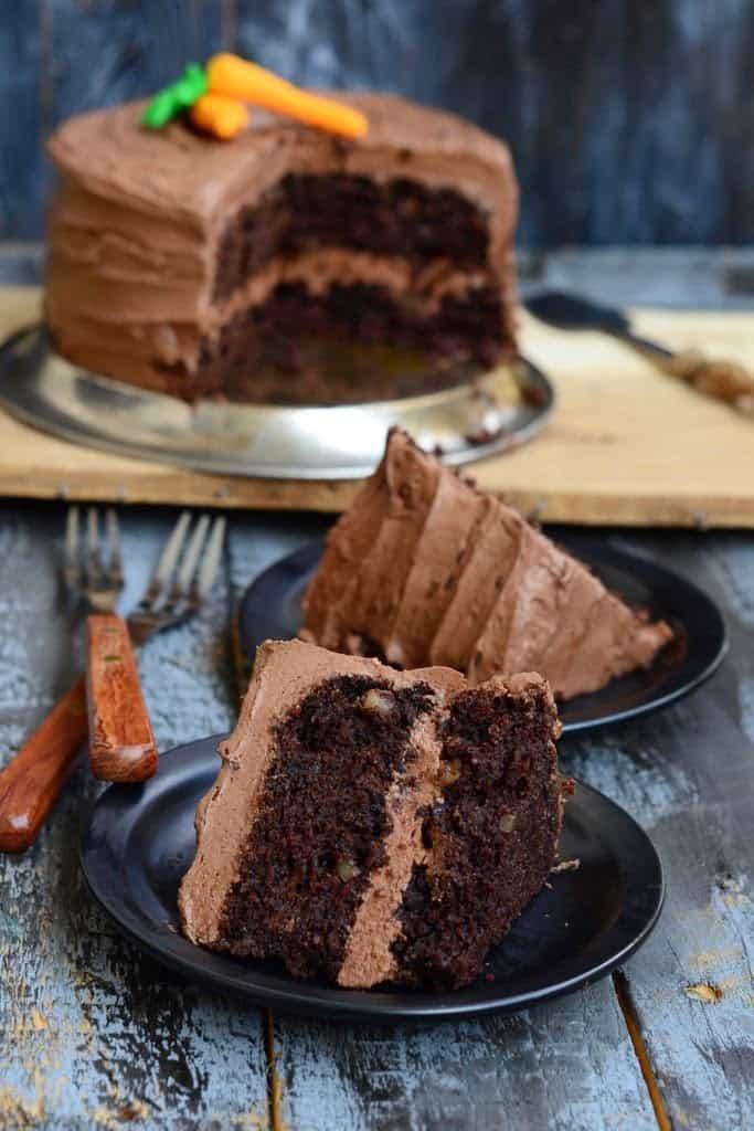 морковный торт с шоколадом