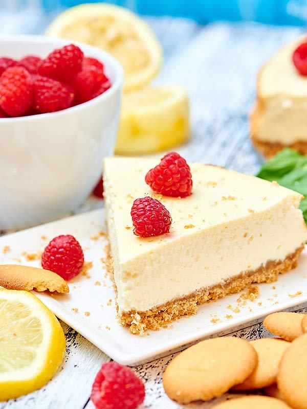 delicious cake with sour cream
