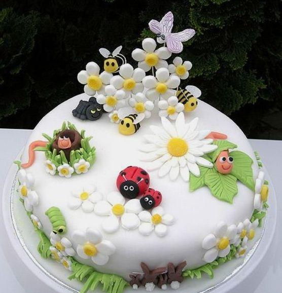 украшение для бисквитного торта с фото
