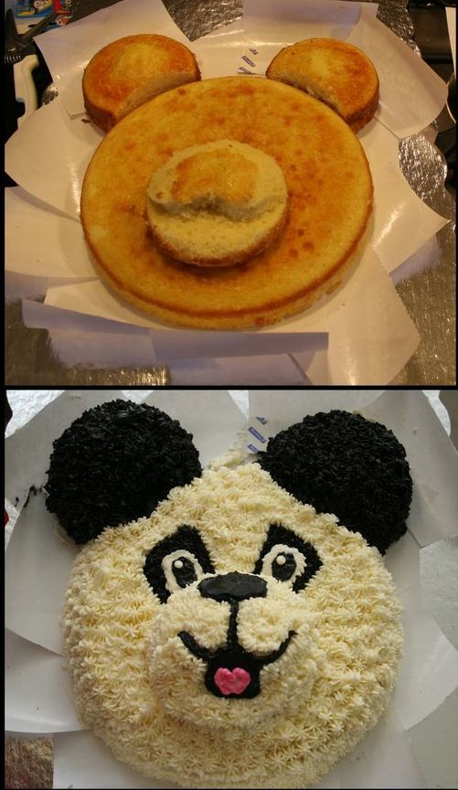 украшение бисквитного торта кремом из