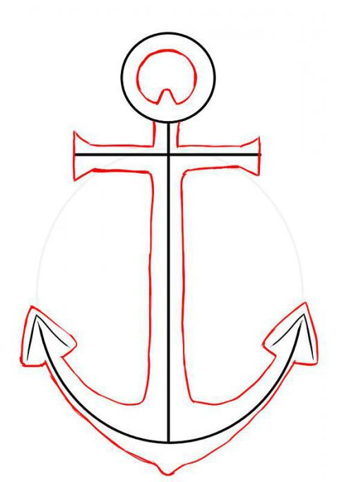 How to draw an anchor is easy and fast