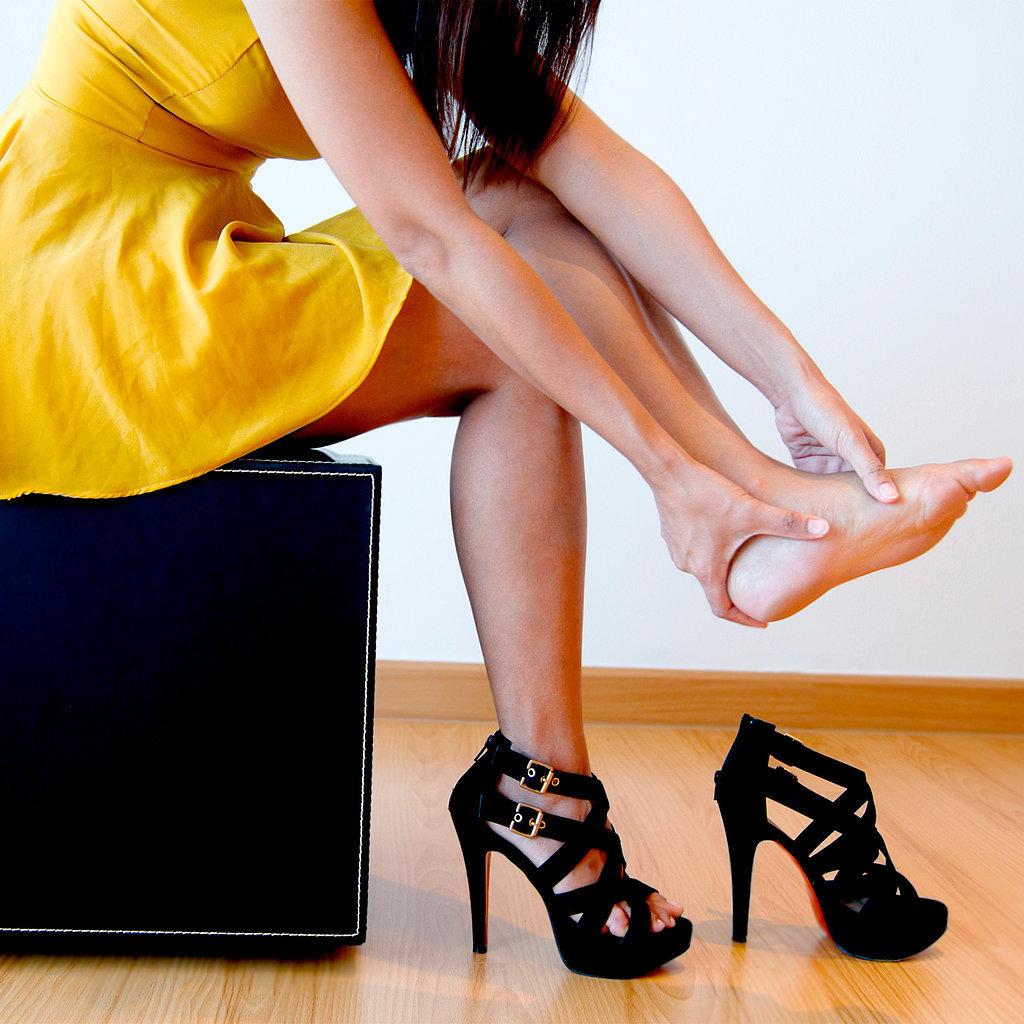 какой ногой вставать пяткой на фото должна быть