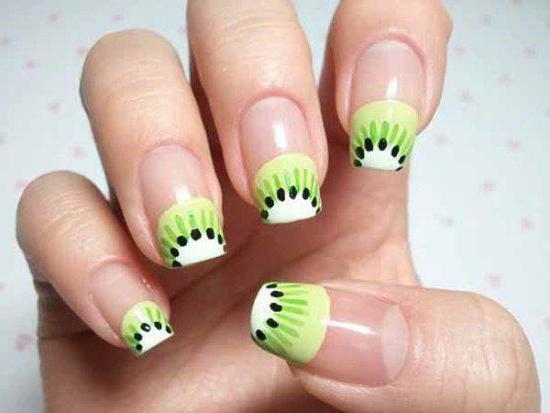 """Маникюр """"киви"""": варианты фруктового дизайна ногтей"""