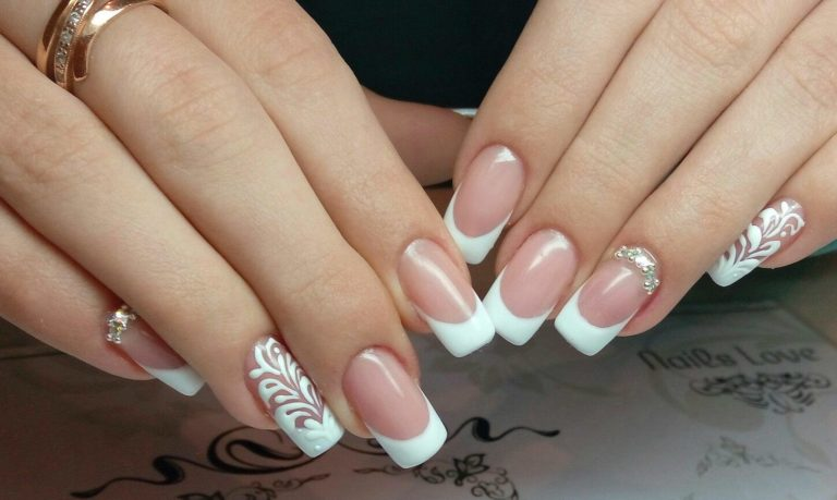 classic french with rhinestones