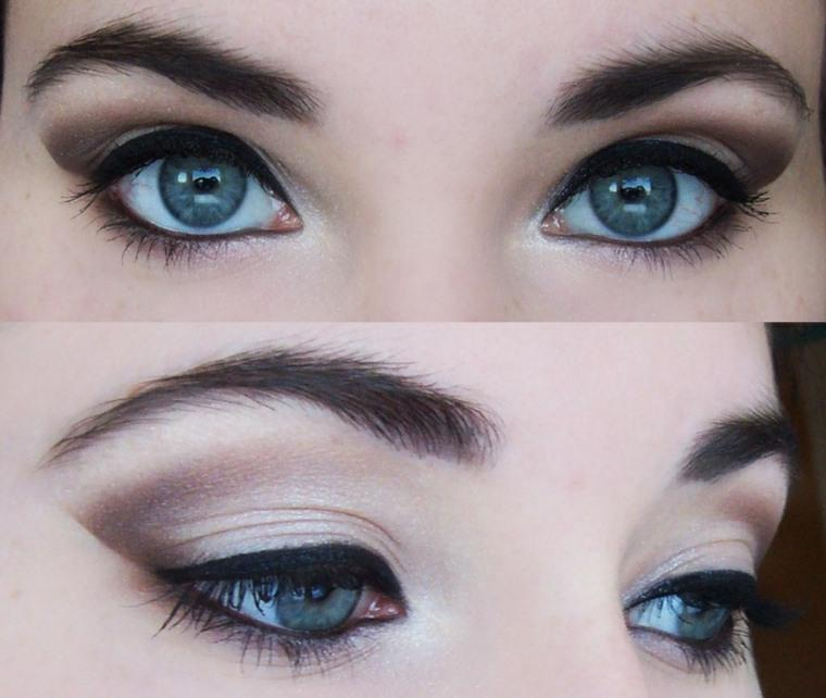 Makeup to enhance blue eyes