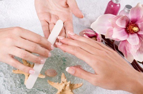 the master creates the desired shape of the nails