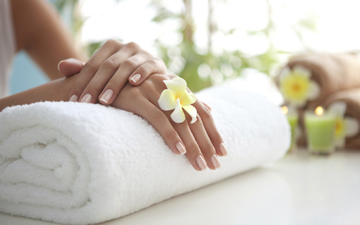 hands after spa manicure