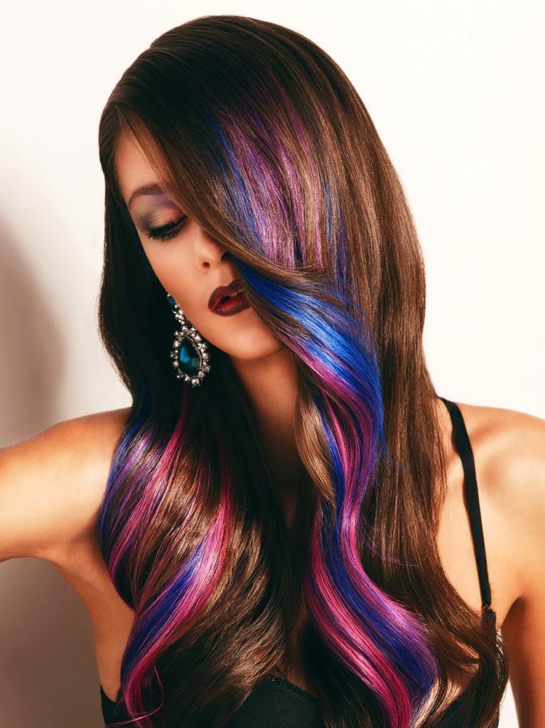 колорирование волос фото на темных длинных волосах выполнена полностью