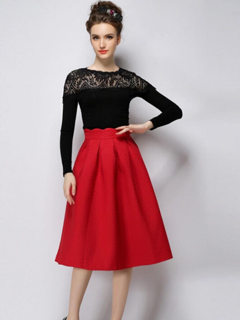 high waist sun skirt