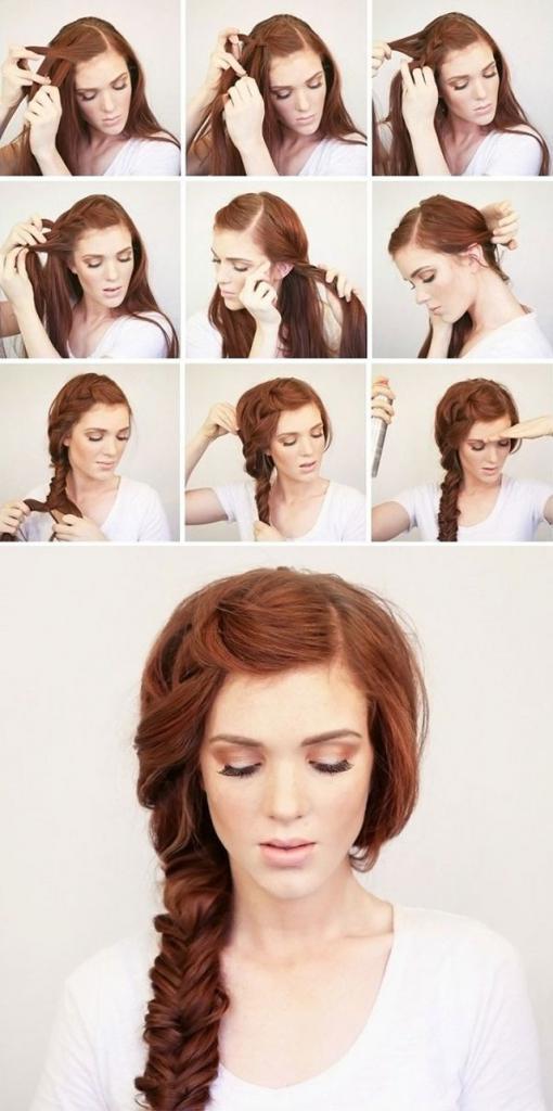 как заплести косу на бок