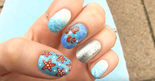 starfish on the nails
