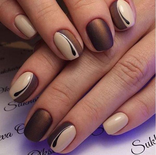 beautiful brown manicure
