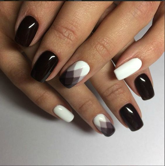 stylish brown manicure