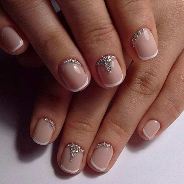 french with rhinestones