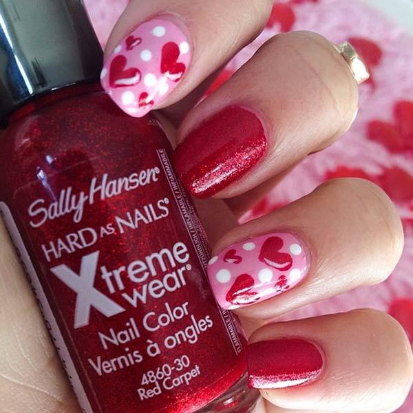romantic manicure design