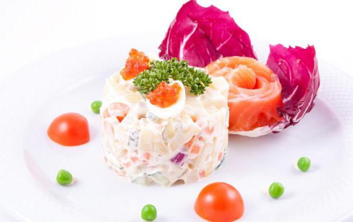 Рецепты салата оливье с семгой