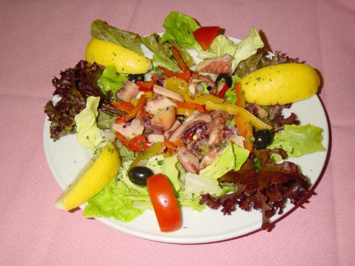 салаты из морепродуктов рецепты с фото без майонеза и