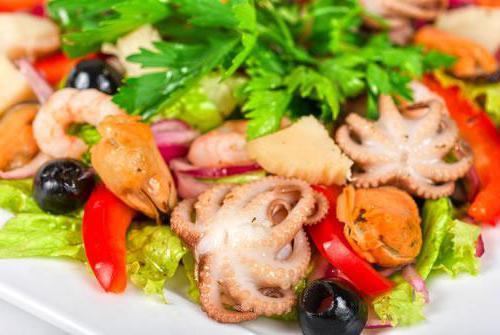 Рецепты салатов на праздничный стол с морепродуктами