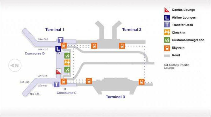 Схема аэропорта чанги