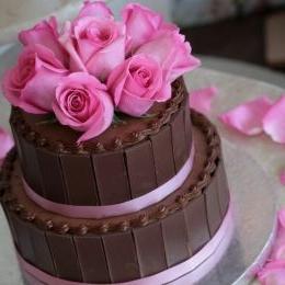 Как украсить домашний торт фото