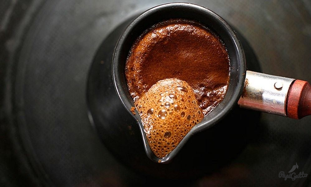 How to make coffee for a drink with cheese