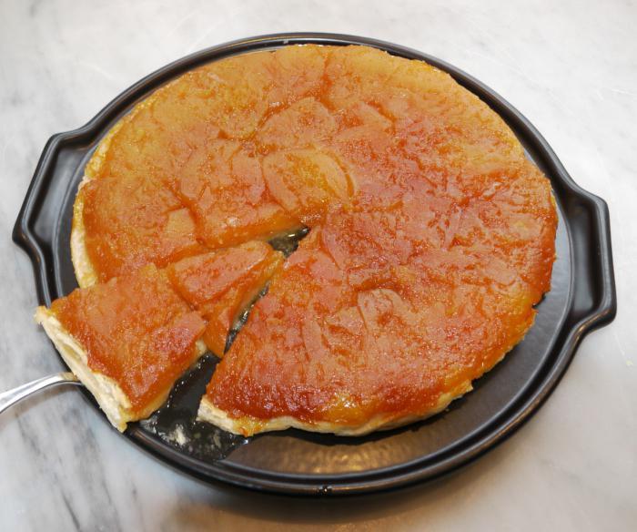 Тарт татен слоеное тесто