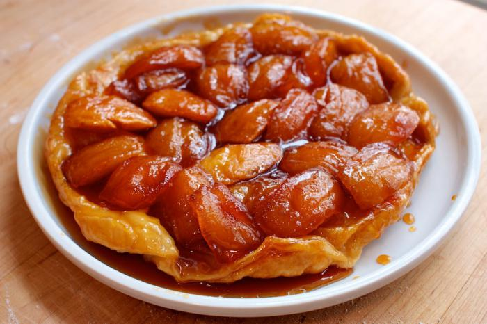 Яблочный пирог наоборот тарт татен