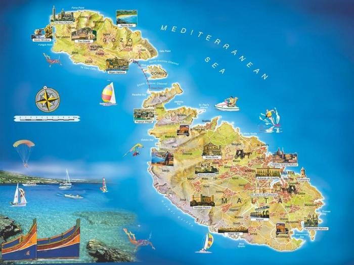 Мальта Летом Осенью Зимой Весной  Сезоны и Погода на
