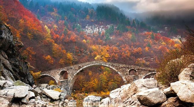 Дьявольский мост в горах родопы болгария