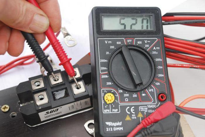Проверить диодный мост не снимая с генератора