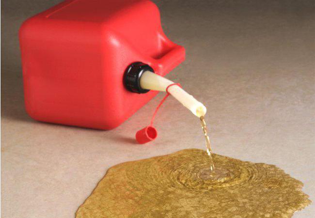 как разбавить бензин