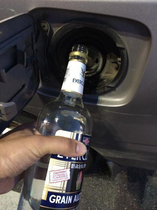 что будет если в бензин добавить спирт