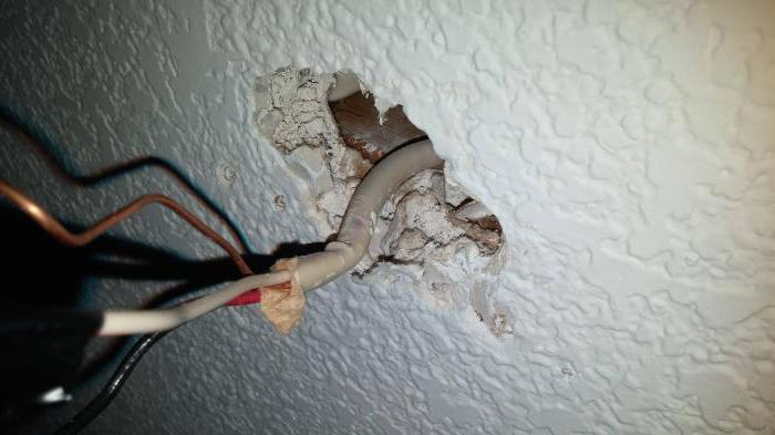 Проводка по потолку в квартире своими руками