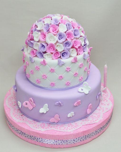 Торт для девочки из мастики