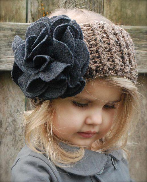 детские вязаные шапки для девочек