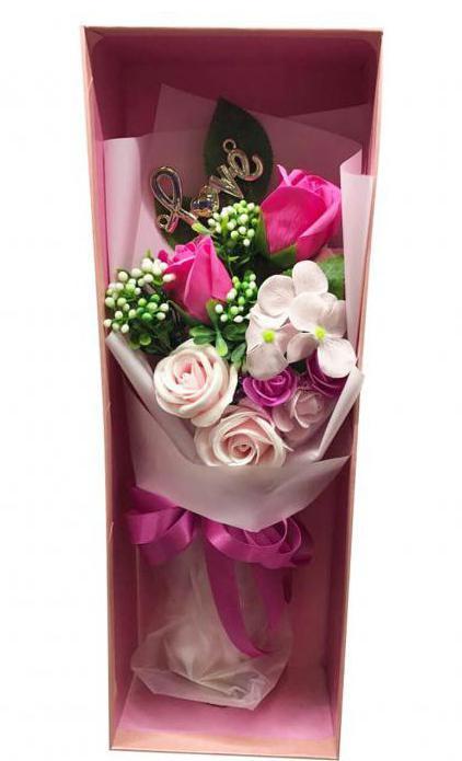 Композиции в коробках из живых цветов 4