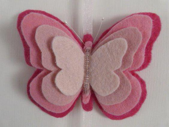 бабочки из фетра выкройки