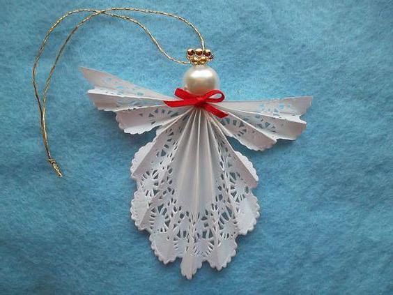 Ангел рождественский своими руками из бумаги 47