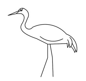 How to draw crane in different ways?