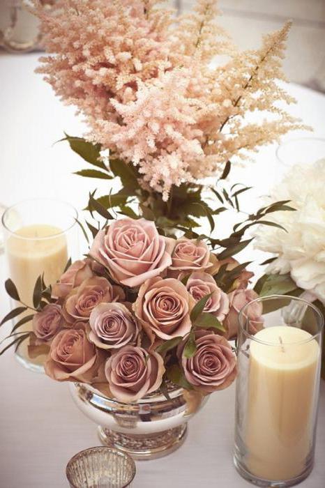 сочетание цветов пыльная роза