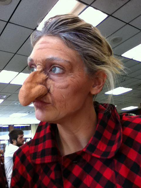 сделать нос бабы яги в домашних условиях