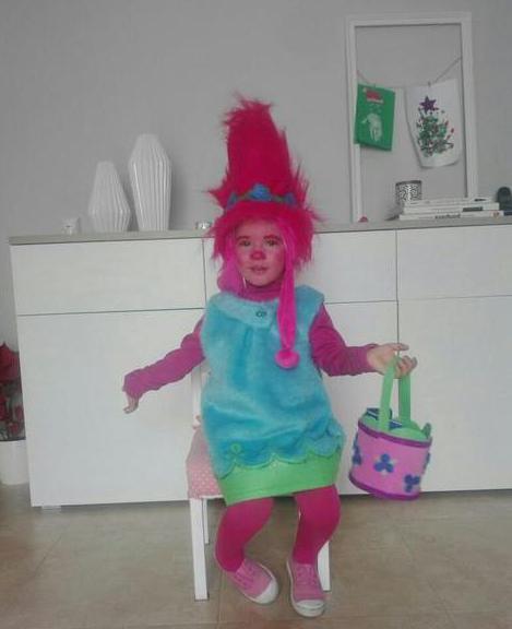 костюм тролля для девочки