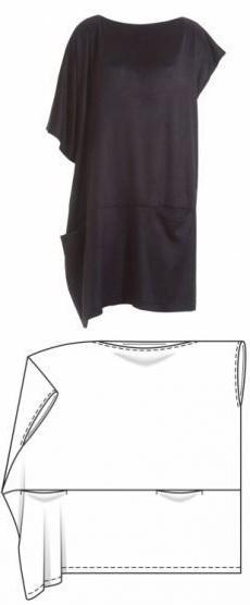 выкройка летнего платья с коротким рукавом