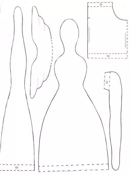 Выкройки куклы тильды в натуральную величину лось